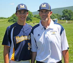 Mr. Mussina, and his oldest son, Bryce, during the 2014 Montoursville (Pa.) Little League season.